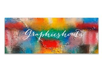 Premade Facbook Banner - Blog Banner - Colorful Social Media Cover - Advertising - Marketing - Branding