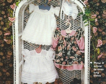 Tucked Pinafore, Dress and Bonnet Pattern
