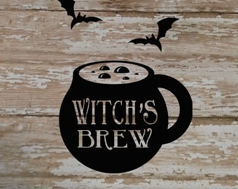 Witch Vinyl Decal | Witch Decal | Halloween Decal | Decal | Laptop Decal | Notebook Decal | Mirror Decal | Vinyl Decal | Planner Decal