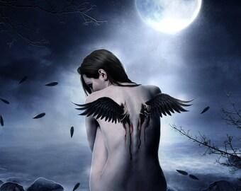 Dark Angel Birth Cross-Stitch Patterns