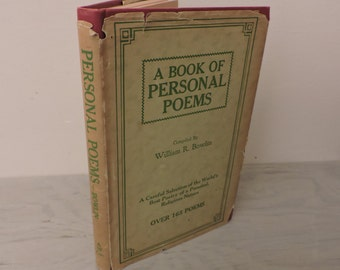 Vintage Poetry Book - A Book Of Personal Poems - 1945 - Illustrated - Classic Poetry