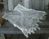 Lace Vest - Ecru Lace - Romantic Style - Victorian  Inspired Lace