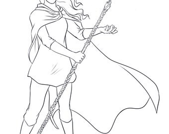 Custom Fantasy Character Portraits : Line Drawings