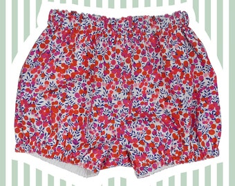 Liberty of London Bubble Shorts   Mini Bloomers for Baby   Wiltshire