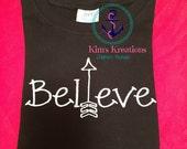 Believe Black Short Sleeve T-Shirt