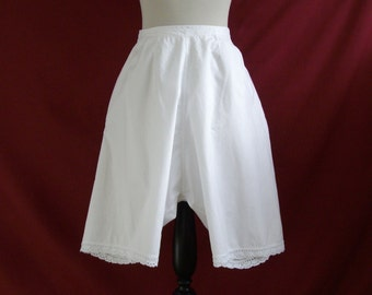 """For 25% off use coupon 'SALE25' - Restored 1910s 1920s Vintage Drawers Bloomers in Lightweight Cotton Waist 27"""""""