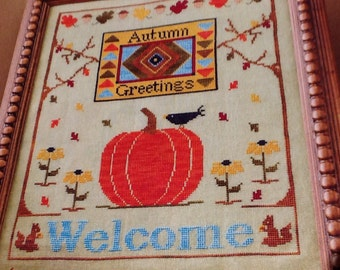 AUTUMN GREETINGS - Cross Stitch Pattern Only