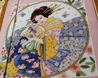 L - GEISHA - Cross Stitch Pattern Only