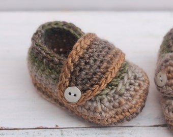 Baby Boy Booties, Crochet Baby Booties, Baby Boy Shoes