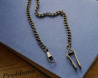 Men's Antique Bronze Chain Fob- (BC2695)