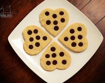 36 Organic BIG Heart Shaped Vanilla Cookies, 12 Cinnamon Doughnuts (Low Carb, Sugar Free, Gluten Free, Grain Free)