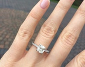 Layaway for CS. Do not buy.1.76 carat Engagement Ring H color VS clarity. Cushion Cut.