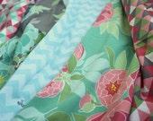 Peony Triangles Baby Burp Cloths   Oversized Baby Burp Cloths by JuteBaby