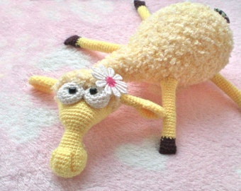082 Crochet Pattern Dolly the sheep Amigurumi toy. Pdf file By Astashova Etsy