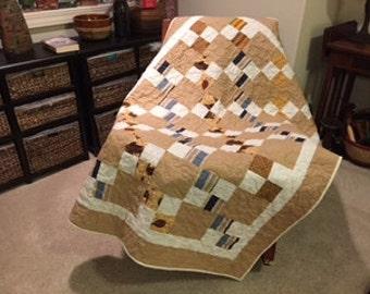 Handmade  Masculine Quilt