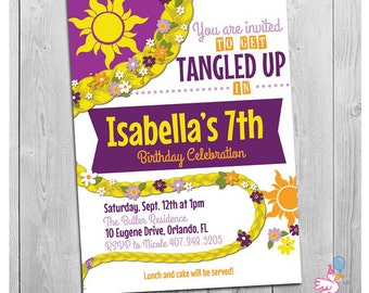 Tangled Invitation, Tangled Birthday, Tangled Party, Tangled Birthday Invitation, Tangled Invite - Printable