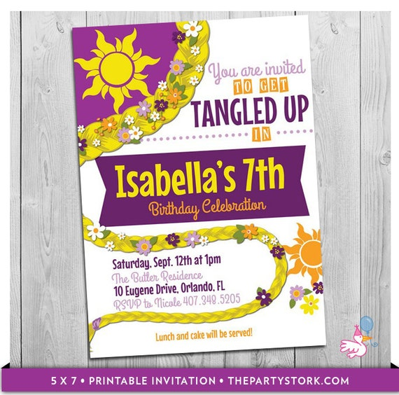 Tangled Invitation Tangled Birthday Tangled Party Tangled