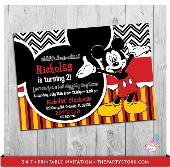 Mickey Invitation Printable Mickey Mouse Birthday Party Invitations