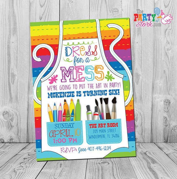 Art Party Invitation Art Party Art Birthday Invitation Art - Paint party invitation template free