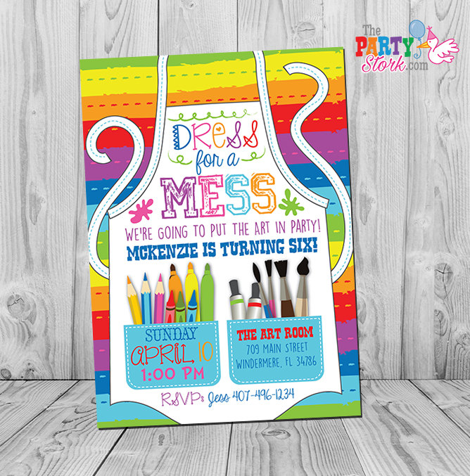art party invitation art party art birthday invitation art, Birthday invitations
