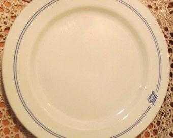 Vintage Avco Restaurant Ware Plate Marked SLLC