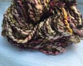 SALE! Handspun bulky art yarn SW merino sequins