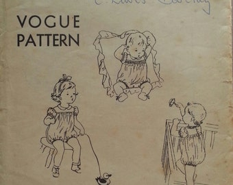 Adorable 1951 Vogue pattern for baby romper