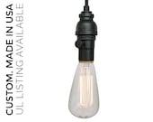 Industrial Pipe Pendant Light- Black