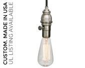 Industrial Pipe Pendant Light- Nickel