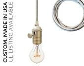 Stainless Steel Cord Bare Bulb Pendant Light