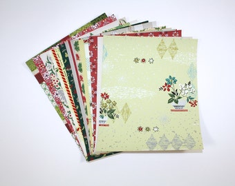 Vintage Wallpaper Collage Pack, 12 Precut Sheets of Assorted Vintage Wallpaper Samples and Scraps