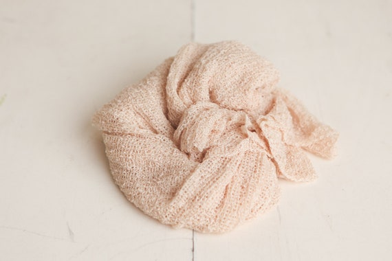 SALE - Cream Neutral Newborn Stretch Knit Baby Wrap - Photography Prop - CLEARANCE