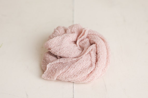 SALE - Barely Blush Pink Newborn Stretch Knit Baby Wrap - Photography Prop - CLEARANCE