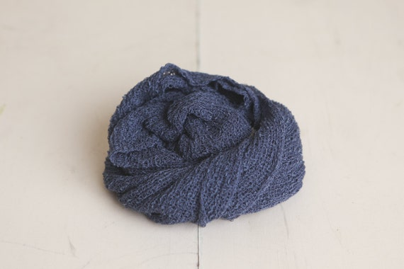 CLEARANCE - Matte Navy Newborn Stretch Knit Baby Wrap - Photography Prop - SALE