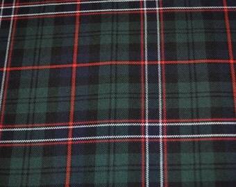 Scottish National tartan fabric. Poly viscose. Machine Washable. Price per half metre.