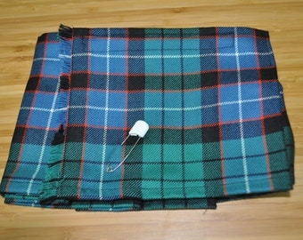 Baby Kilt, newborn in Galbraith Ancient tartan, 100% 10oz Pure New Wool, Handmade in Scotland.