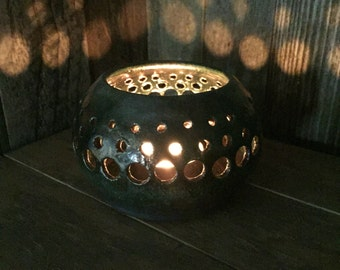 Small Candle Luminary - Pottery - Lantern