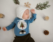 """Swanky Shank Hand Dyed """"Up to Snow Good"""" Bodysuit or Tee; Gender Neutral Winter Shirt"""