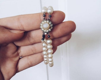 Danish Vintage Pearl bracelet  Arm wrist band