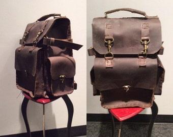 Backpack Bag/Large Vintage Backpack/Weekend Flight Backpackes/Personized Backpack/Vintage rustic Brown Backpack