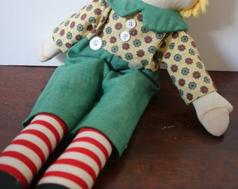 Vintage Rag Doll Raggedy Andy Hand Made Doll Vintage Doll Clothes