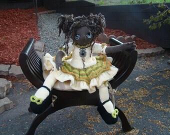 "Pattern for  ""Cléo"" Raggedy Lottie ragdoll doll knitted doll Bunny rabbit"