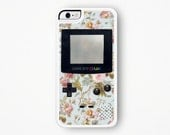 Gameboy iPhone Case iPhone 5 Case Gameboy iPhone 6 Case iPhone 6S Case iPhone 4 Case Gameboy iPhone 5C Case Pastel Floral iPhone Case 6 Plus