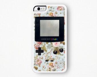 Gameboy iPhone Case iPhone 5 Case Gameboy iPhone 6 Case iPhone 6S Case iPhone 4 Case Gameboy iPhone 5C Case Pastel Floral iPhone Case 6 Plus