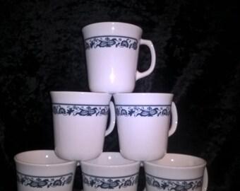 Corning Corelle Ware, Old Town Mugs, Set of 6