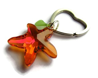 Kingdom Hearts Paopu Fruit Swarovski Keychain