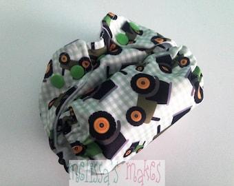 Tractors - Newborn Diaper - Newborn Cloth Diaper - Newborn Nappie - Baby Shower Gift - New Mom Gift - AIO Diaper - First Baby Gift- New Baby