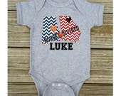 Personalized House Divided Football Alabama Georgia Love Baby Toddler Children Kids Boy Girl T-shirt Bodysuit - Choice of State & Colors