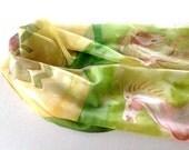 Rohan Scarf, LOTR Scarf, Middle-earth Silk Scarf, Horse scarf Green Silk Scarf, Handpainted Scarf