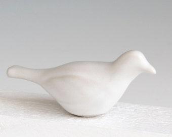 Ceramic Dove Sculpture. Ceramic Sculpture, Ceramic White Dove, Handbuilt Art Pottery.